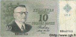 10 Markkaa FINLANDE  1963 P.104 TB