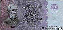 100 Markkaa FINLANDE  1963 P.106 TTB