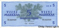 5 Markkaa FINLANDE  1963 P.106A TTB