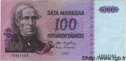 100 Markkaa FINLANDE  1976 P.109a TTB