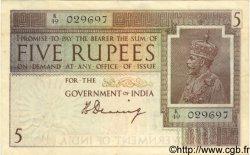 5 Rupees INDE  1917 P.004a TTB+