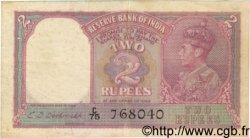 2 Rupees INDE  1943 P.017b TB+