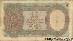 5 Rupees INDE  1937 P.018a TB