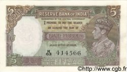 5 Rupees INDE  1937 P.018a SPL
