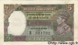 5 Rupees INDE  1943 P.018b SUP