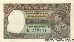 5 Rupees INDE  1943 P.018b pr.SPL