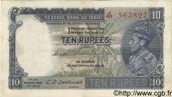 10 Rupees INDE  1943 P.019b TTB