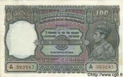 100 Rupees INDE Bombay 1943 P.020b TTB+