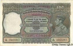 100 Rupees INDE  1943 P.020e TTB+