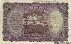 1000 Rupees INDE  1937 P.021a TB à TTB