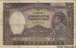 1000 Rupees INDE  1937 P.021b TB