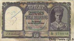 10 Rupees INDE  1943 P.024 pr.TB