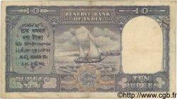 10 Rupees INDE  1943 P.024 TB à TTB