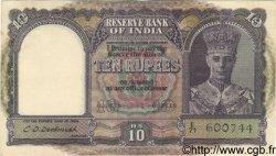 10 Rupees INDE  1943 P.024 SUP