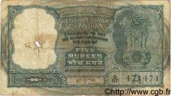 5 Rupees INDE  1957 P.035b AB