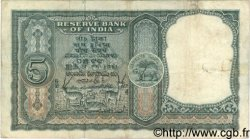 5 Rupees INDE  1957 P.035b TB