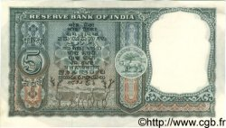 5 Rupees INDE  1962 P.036a SUP+
