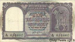 10 Rupees INDE  1957 P.039c TB+