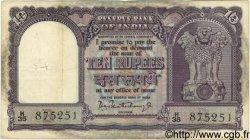 10 Rupees INDE  1962 P.040b TB