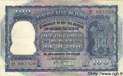 100 Rupees INDE  1957 P.043b TTB