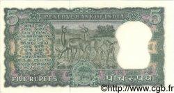 5 Rupees INDE  1962 P.054a SPL