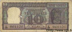 10 Rupees INDE  1962 P.057a B à TB