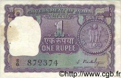 1 Rupee INDE  1966 P.077a pr.TTB
