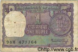 1 Rupee INDE  1979 P.077w B+