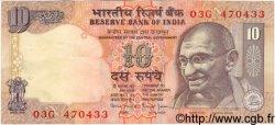 10 Rupees INDE  1990 P.089var. TTB+