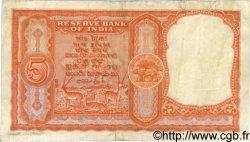 5 Rupees INDE  1957 P.R2 pr.TTB