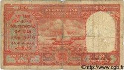 10 Rupees INDE  1957 P.R3 B