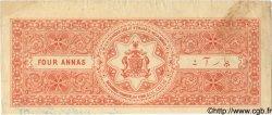 4 Annas INDE  1943 P.... TTB