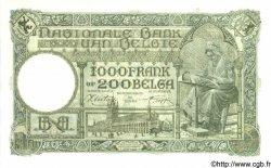 1000 Francs - 200 Belgas BELGIQUE  1944 P.110 pr.NEUF