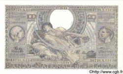 100 Francs - 20 Belgas BELGIQUE  1943 P.112 pr.NEUF
