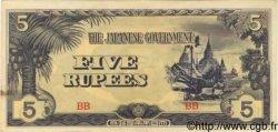 5 Roupies BIRMANIE  1942 P.15b SUP