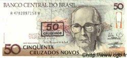 50 Cruzeiros sur 50 Cruzados Novos BRÉSIL  1990 P.223