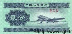 2 Fen CHINE  1953 P.0861b NEUF