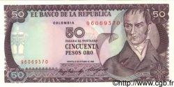 50 Pesos Oro COLOMBIE  1984 P.425a NEUF
