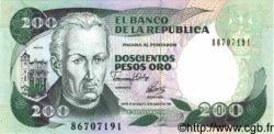 200 Pesos Oro COLOMBIE  1992 P.429e NEUF