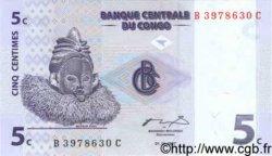 5 Centimes CONGO  1997 P.81 NEUF