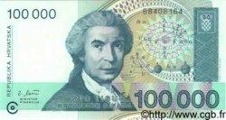 100000 Dinara CROATIE  1993 P.27a NEUF