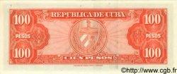 100 Pesos CUBA  1959 P.093a