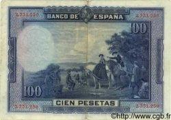 100 Pesetas ESPAGNE  1928 P.076a TTB