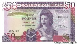 50 Pounds GIBRALTAR  1986 P.24