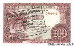 1000 Bipkwele sur 100 Pesetas GUINÉE ÉQUATORIALE  1980 P.18 NEUF