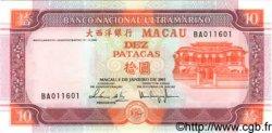 10 Patacas MACAO  2001 P.101a pr.NEUF