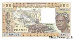1000 Francs MALI  1989 P.406Di pr.NEUF