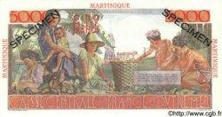 5000 Francs Schoelcher MARTINIQUE  1952 P.34s