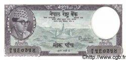 5 Rupees NÉPAL  1961 P.13 NEUF