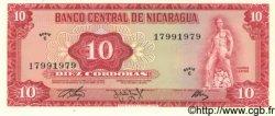 10 Cordobas NICARAGUA  1972 P.123